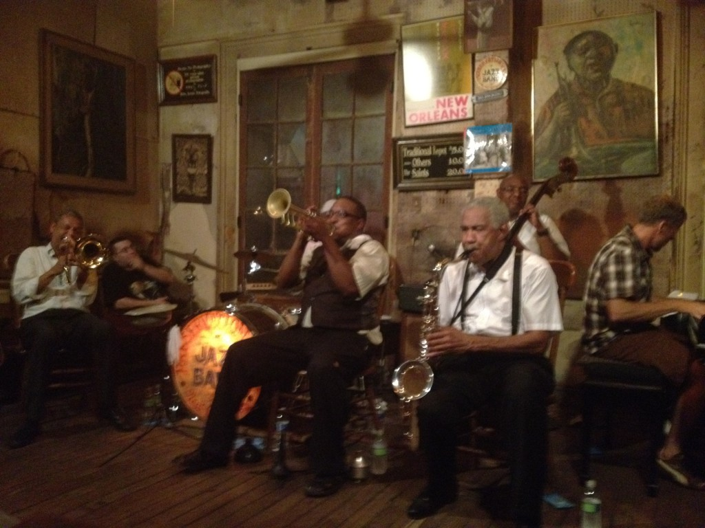 Jan The Jazzman at The Preservation Hall New Orleans